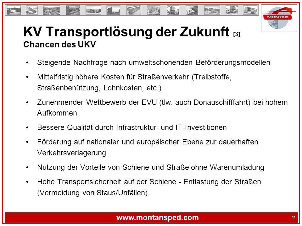 KV Transportlösung der Zukunft [3] Chancen des UKV